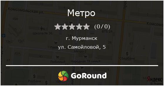Метро, Мурманск, ул. Самойловой, 5