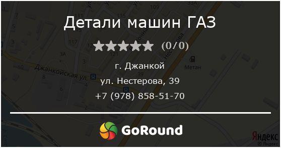 Детали машин ГАЗ, Джанкой, ул. Нестерова, 39
